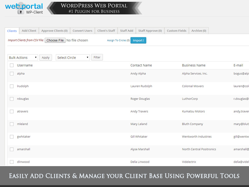 Wordpress Client Management Portal Blog - WP-Client